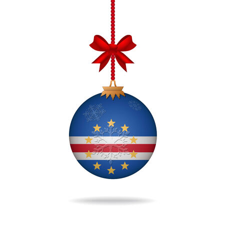 cape verde: Ilustration christmas ball flag Cape Verde