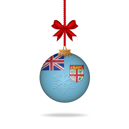 fiji: Ilustration kerstbal vlag Fiji