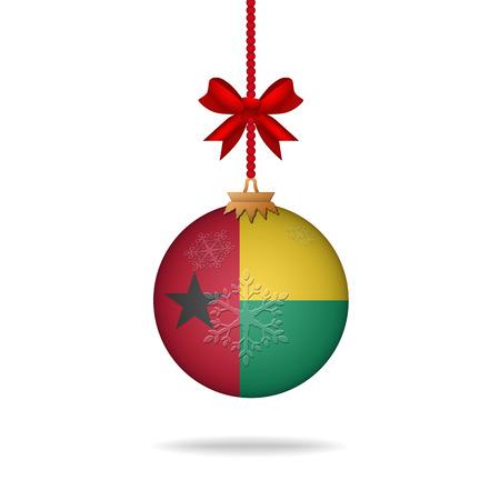 guinea bissau: Ilustration christmas ball flag Guinea Bissau