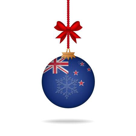 flag of new zealand: Ilustration christmas ball flag New Zealand