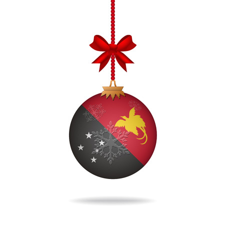guinea: Ilustration christmas ball flag Papua New Guinea Illustration
