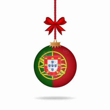 bandera de portugal: Ilustration bola bandera navidad Portugal