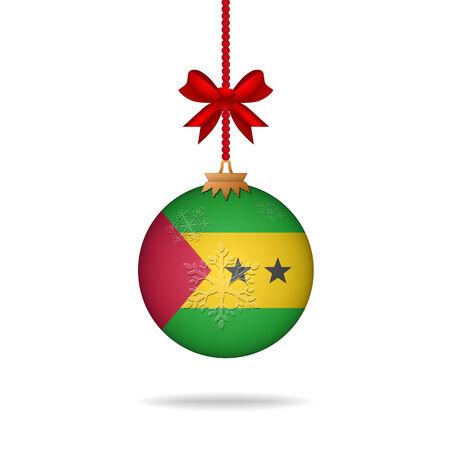 tomo: Ilustration natale bandiera di palla Sao Tome e Principe