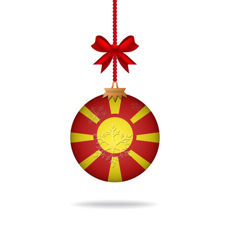 macedonia: Ilustration christmas ball flag Macedonia