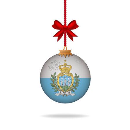 san marino: Ilustration christmas ball flag San Marino Illustration