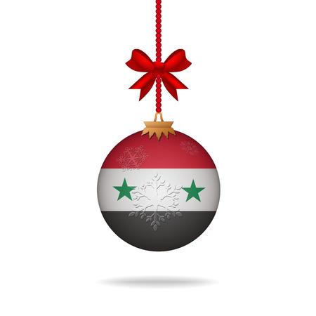 syria: Ilustration christmas ball flag Syria Illustration