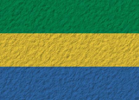 gabon: illustration of a stone flag of Gabon Stock Photo