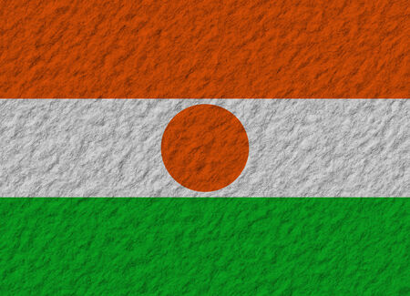 niger: illustration of a stone flag of Niger