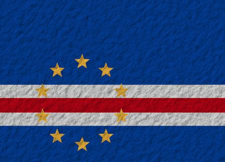 cape verde flag: illustration of a stone flag of Cape Verde