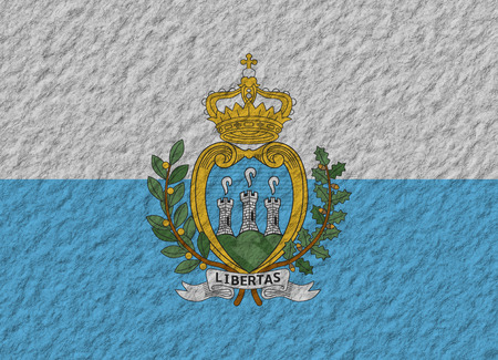 san marino: illustration of a stone flag of San Marino