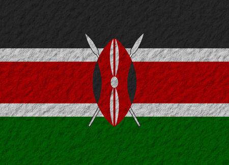 kenya: illustration of a stone flag of Kenya