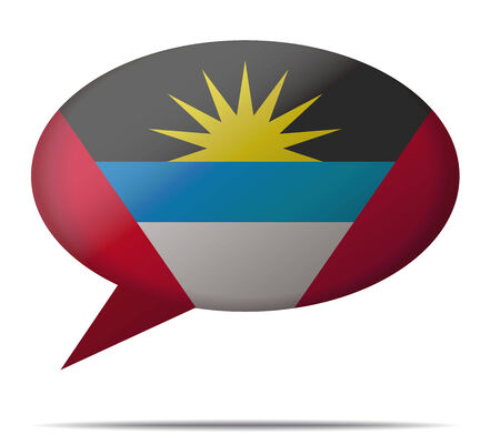 spech bubble: Illustration Speech Bubble Flag Antigua and Barbuda