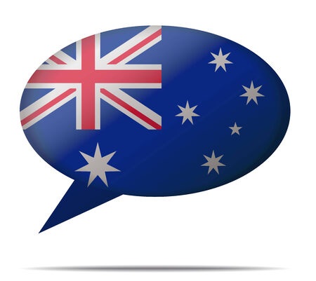 spech bubble: Illustration Speech Bubble Flag Australia
