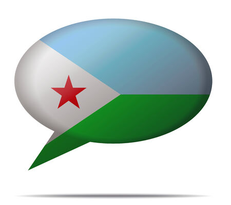 spech bubble: Illustration Speech Bubble Flag Djibouti Illustration