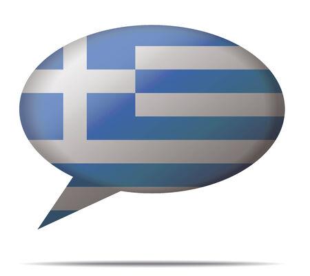 Illustration Speech Bubble Flag Greece Illustration