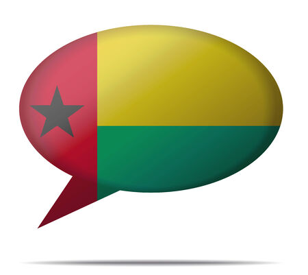 spech bubble: Illustration Speech Bubble Flag Guinea Bissau Illustration