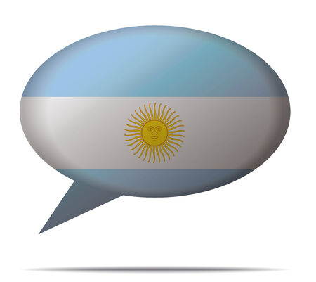 spech bubble: Illustration Speech Bubble Flag Argentina