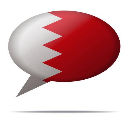 Illustration Speech Bubble Flag Bahrain