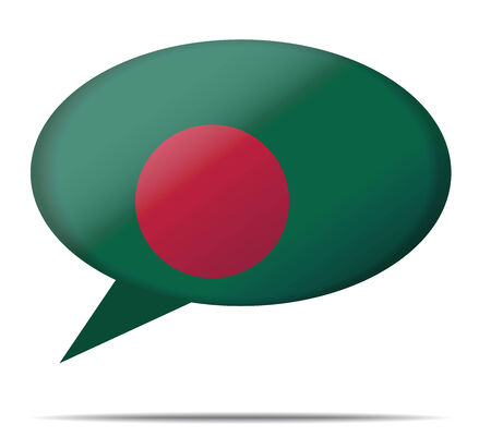 spech bubble: Illustration Speech Bubble Flag Bangladesh Illustration