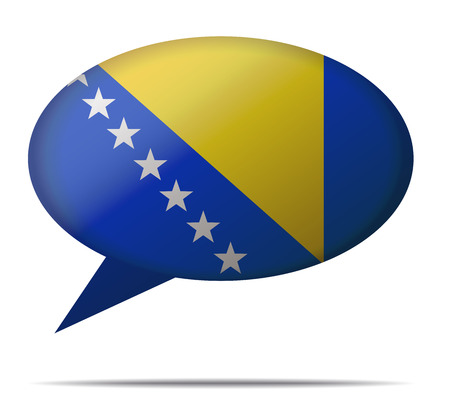 spech bubble: Illustration Speech Bubble Flag Bosnia and Herzegovina Illustration