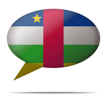 spech bubble: Illustration Speech Bubble Flag Central African Republic Illustration