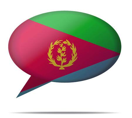 eritrea: Illustration Speech Bubble Flag Eritrea Illustration