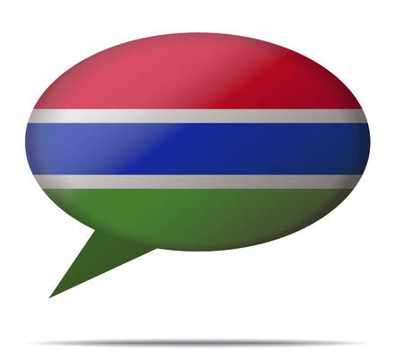 spech bubble: Illustration Speech Bubble Flag Gambia