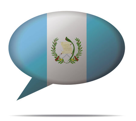 guatemala: Illustration Speech Bubble Flag Guatemala