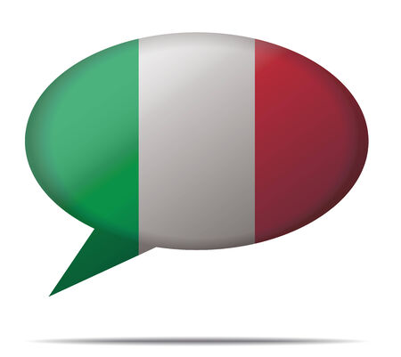 spech bubble: Illustration Speech Bubble Flag Italy Illustration