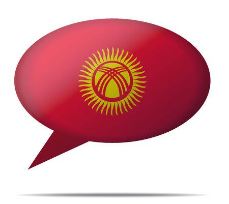 Illustration Speech Bubble Flag Kyrgyzstan Illustration