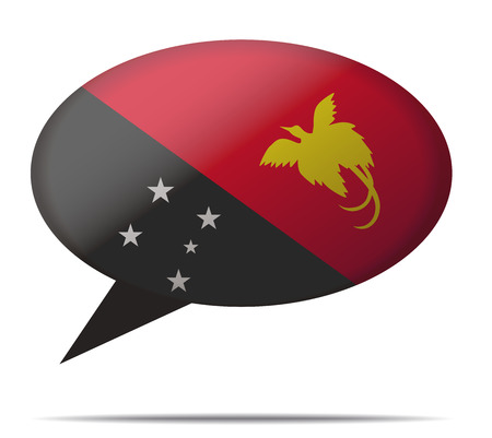 spech bubble: Illustration Speech Bubble Flag Papua New Guinea