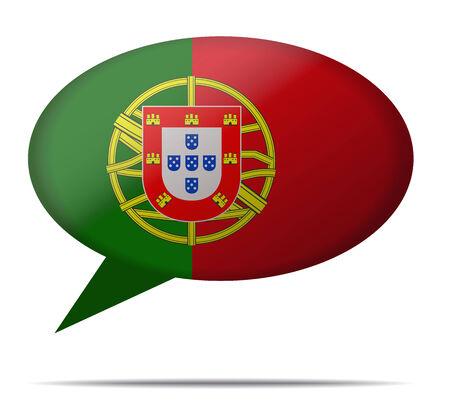 bandera de portugal: Ilustraci�n burbuja del discurso de la bandera de Portugal