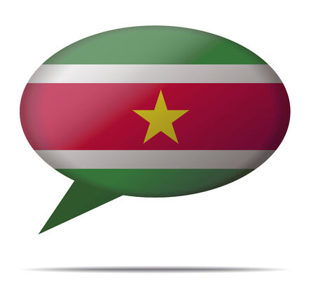 suriname: Illustration Speech Bubble Flag Suriname Illustration