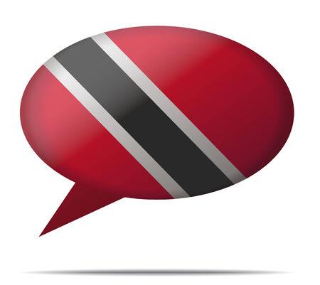 Illustration Speech Bubble Flag Trinidad and Tobago