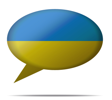spech bubble: Illustration Speech Bubble Flag Ukraine
