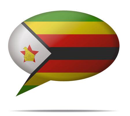 zimbabwe: Ilustraci�n burbuja del discurso de la bandera de Zimbabwe