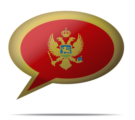 montenegro: Illustration Speech Bubble Flag Montenegro