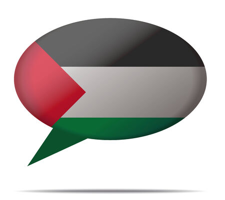 spech bubble: Illustration Speech Bubble Flag Palestine