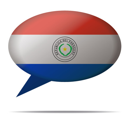 spech bubble: Illustration Speech Bubble Flag Paraguay