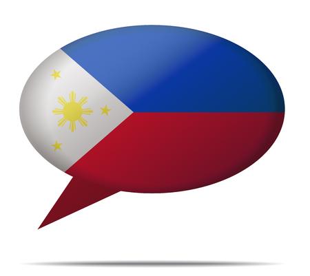 Illustration Speech Bubble Flag Philippines Illustration