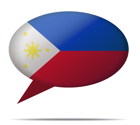 spech bubble: Illustration Speech Bubble Flag Philippines Illustration
