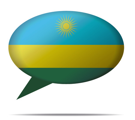 spech bubble: Illustration Speech Bubble Flag Rwanda