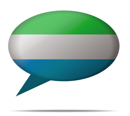 spech bubble: Illustration Speech Bubble Flag Sierra Leone