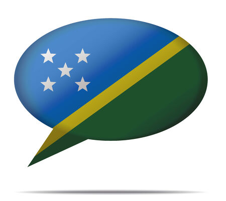 spech bubble: Illustration Speech Bubble Flag Solomon Islands