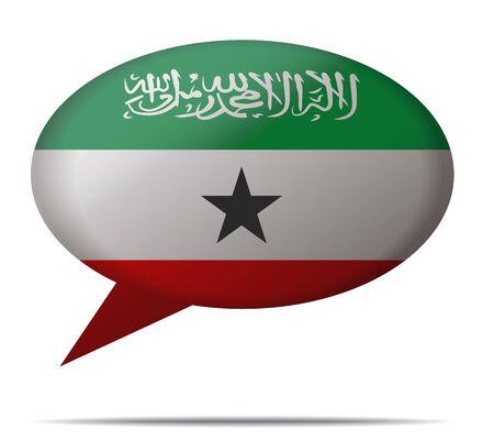 somaliland: Illustration Speech Bubble Flag Somaliland