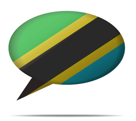 spech bubble: Illustration Speech Bubble Flag Tanzania Illustration