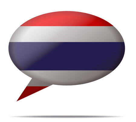 spech bubble: Illustration Speech Bubble Flag Thailand