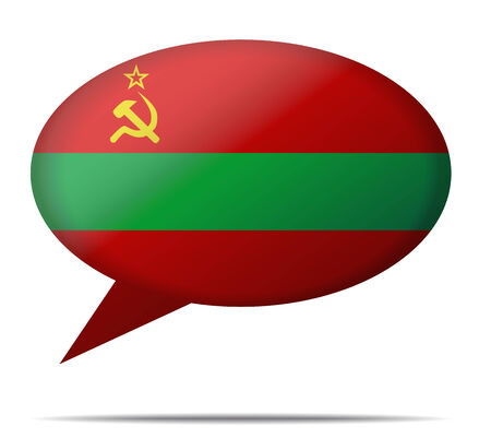 spech bubble: Illustration Speech Bubble Flag Transnistria
