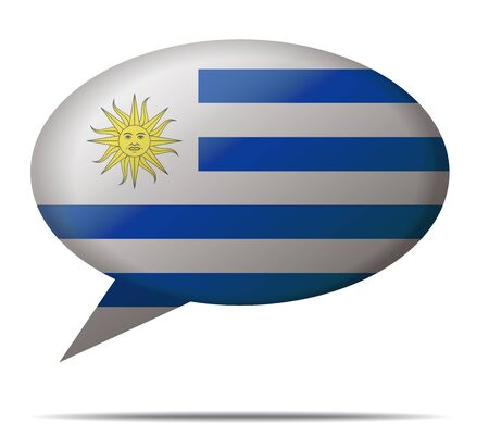 uruguay: Illustration Speech Bubble Flag Uruguay