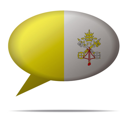 vatican city: Illustration Speech Bubble Flag Vatican City
